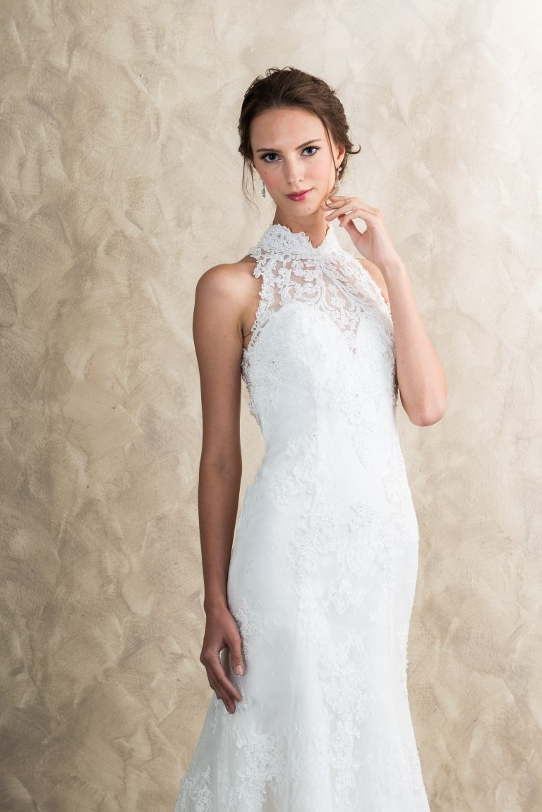 High Neck Lace Back Mermaid