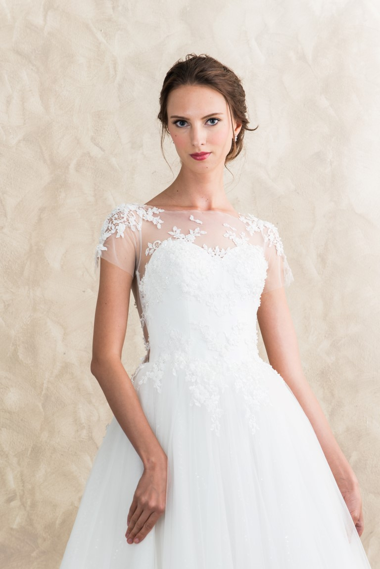 Illusion Neckline Lace Tulle