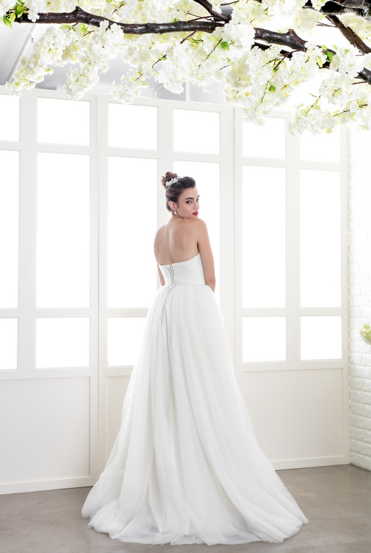 Crystal Bodice Empire Cut Gown